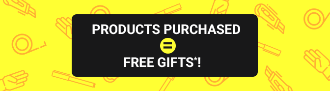 PRODUCTS PURCHASED = FREE GIFTS*!